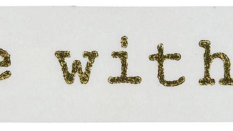 MADAM STOLTZ Designová samolepicí páska Handmade Gold, bílá barva, zlatá barva, papír