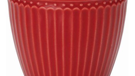 GREEN GATE Latte cup Alice red, červená barva, porcelán 300 ml