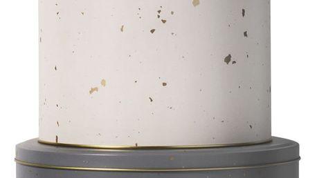 ferm LIVING Plechová dóza Gold Confetti Varianta L, růžová barva, šedá barva, zlatá barva, krémová barva, kov