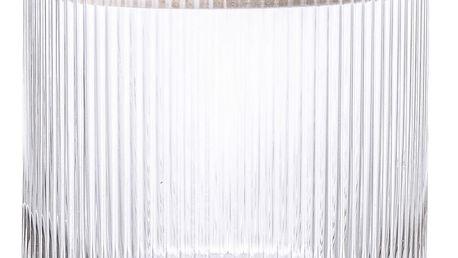 Bloomingville Skleněná dóza s dřevěným víkem Clear Glass, čirá barva, sklo, dřevo