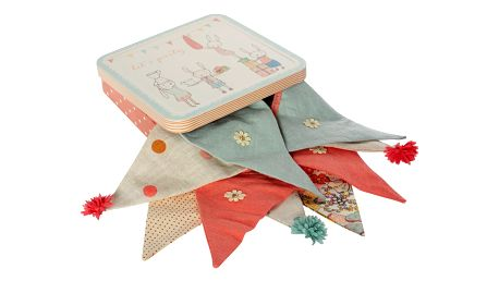 Maileg Textilní girlanda Let's Party Melon v krabičce, růžová barva, kov, textil