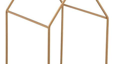 Blossom Dekorativní domeček Gold, zlatá barva, kov