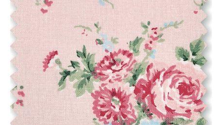 GREEN GATE Bavlněná látka Marley Pale Pink - 1m, růžová barva, textil