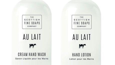 SCOTTISH FINE SOAPS Dárkové balení kosmetiky na ruce AU LAIT, bílá barva