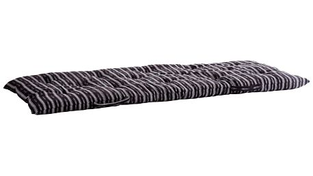 MADAM STOLTZ Bavlněný sedák Black/white 70x180cm, černá barva, bílá barva, textil
