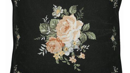 GREEN GATE Bavlněný povlak na polštář Josephine Black 50x50, černá barva, textil