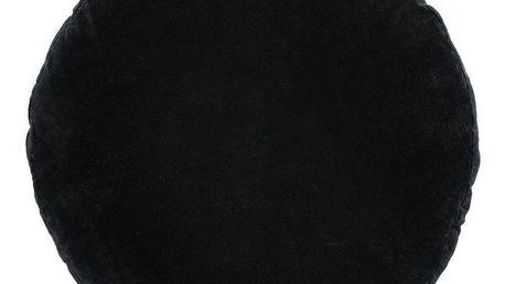 MADAM STOLTZ Sametový sedák Black 46cm, černá barva, textil