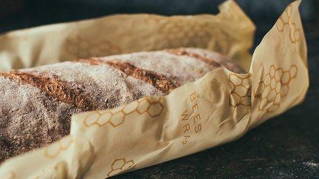 Bee's Wrap Ekologický potravinový ubrousek na chléb, žlutá barva, textil