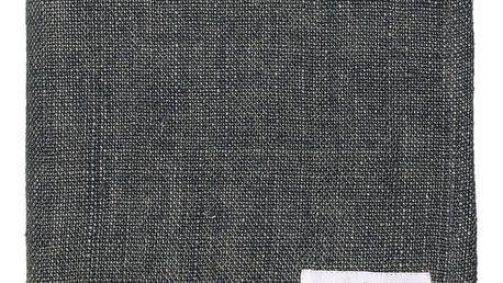GREEN GATE Látkový ubrousek Heavy dark grey, šedá barva, textil