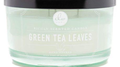 dw HOME Vonná svíčka ve skle Green Tea Leaves 390g, zelená barva, sklo, vosk