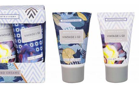 HEATHCOTE & IVORY Dárková sada mini krémů na ruce Braids & Blooms, modrá barva, šedá barva, plast, papír