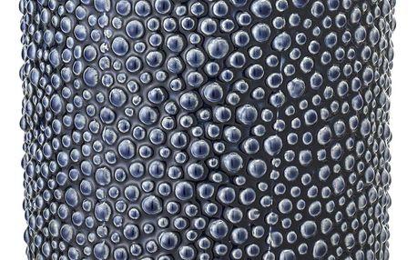 Bloomingville Váza Blue Ceramic, modrá barva, porcelán