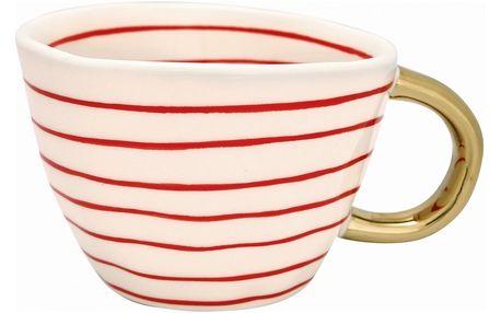 GREEN GATE Porcelánový hrnek Sally Red, červená barva, porcelán