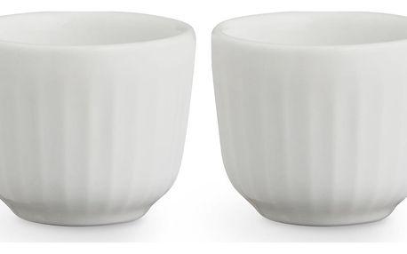KÄHLER Stojánek na vajíčko Hammershøi White - set 2 ks, bílá barva, keramika