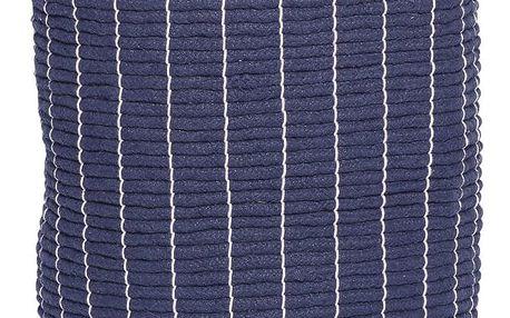 Hübsch Bavlněný koš na prádlo Blue, modrá barva, textil