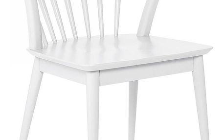Bloomingville Židle Laura, bílá barva, dřevo