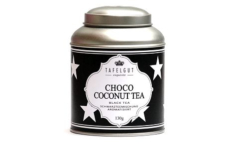 TAFELGUT Černý čaj s kokosem a čokoládou - 130 gr, černá barva