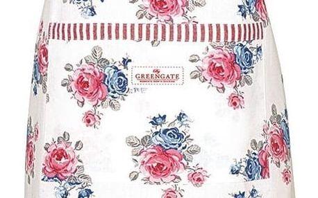 GREEN GATE Kuchyňská utěrka Hailey White, růžová barva, modrá barva, bílá barva, keramika
