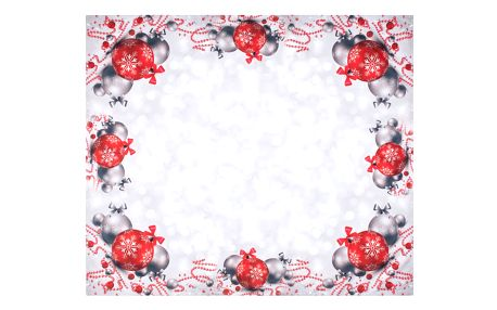 Forbyt Vánoční ubrus Vánoční ozdoby, 120 x 140 cm, 120 x 140 cm