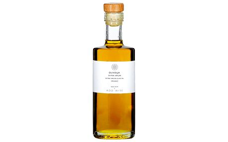 ADD:WISE Bio olivový olej Extra Virgin 250ml, zelená barva, čirá barva, sklo