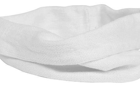 CÔTÉ TABLE Košík na pečivo Cottage blanc 16cm, bílá barva, textil