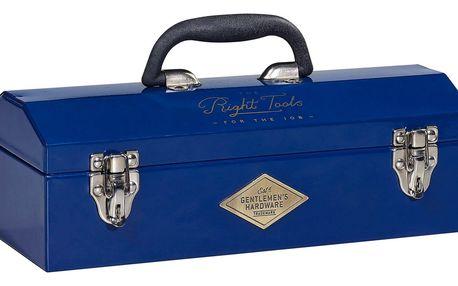 GENTLEMEN'S HARDWARE Nerezový kufřík na nářadí Navy blue, modrá barva, kov