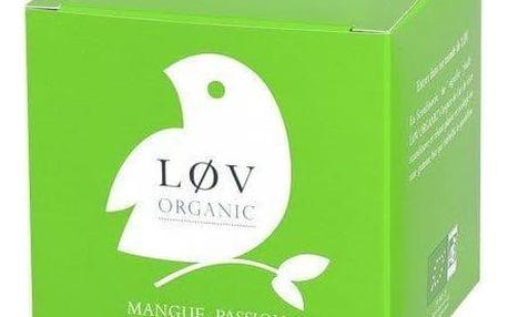 Løv Organic Bílý čaj Mango Passion fruit - 20 sáčků, zelená barva, papír