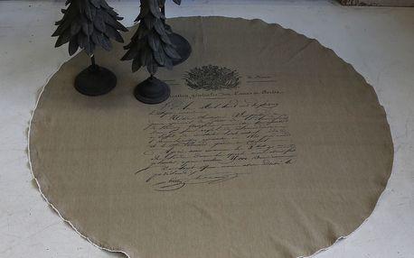 Chic Antique Podložka pod vánoční stromeček 140cm, béžová barva, textil