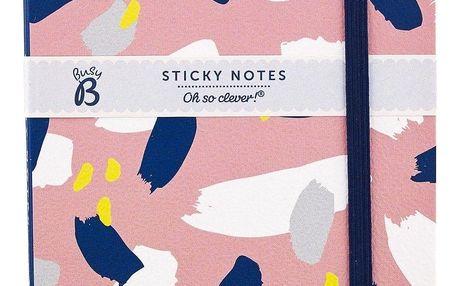 Busy B Čtvercový bloček s lepítky Fashion, růžová barva, papír