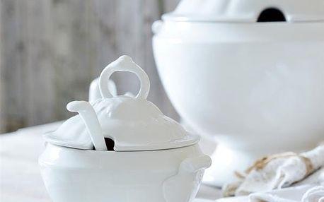Jeanne d'Arc Living Servírovací mísa Tureen White 300ml, bílá barva, porcelán