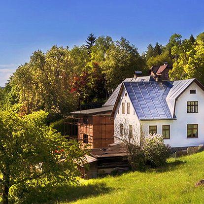 Vybavená chata až pro 10 osob v Jizekách