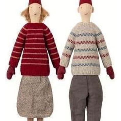 Maileg Vánoční skřítci Pixy Louise a Lukas maxi Chlapec Lukas, multi barva, textil