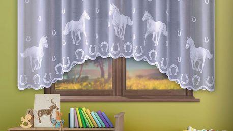 Forbyt Záclona Koně, 300 x 150 cm