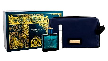 Versace Eros EDT dárková sada M - EDT 100 ml + EDT 10 ml + kosmetická taška