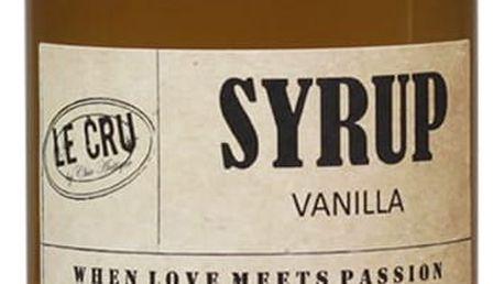 LE CRU Delicacies Sirup Vanilka 200ml, přírodní barva, sklo