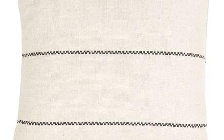 IB LAURSEN Bavlněný povlak na polštář Cream 50x50, černá barva, krémová barva, textil