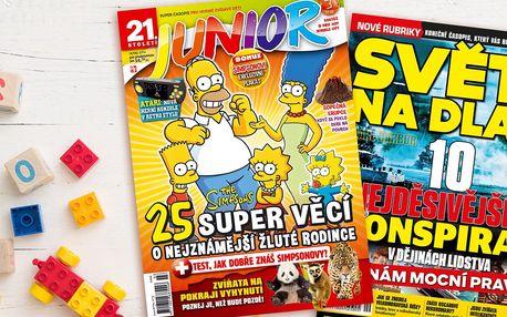 Předplatné časopisů Junior a Svět na dlani