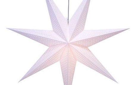 STAR TRADING Závěsná svítící hvězda Huss White 100 cm, bílá barva, papír