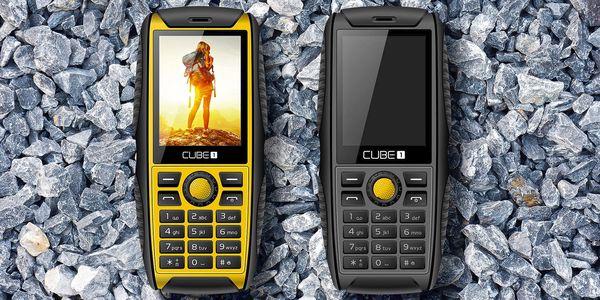 Outdoorový mobil CUBE1 odolný vůči prachu a vodě
