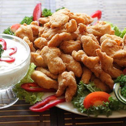 Kuřecí nugetky s česnekovým dipem: 0,5–2 kg