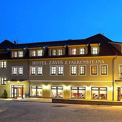 Luxusní pobyt pro dva ve 4* hotelu Záviš z Falkenštejna pár kroků od zámku Hluboká, snídaně, večeře.