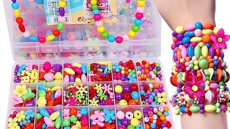Sada dívčích korálků na výrobu šperků - různé varianty