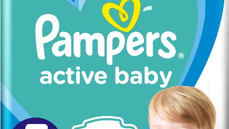 PAMPERS Active Baby 5 (11-16 kg) 150 ks MĚSÍČNÍ ZÁSOBA – jednorázové pleny