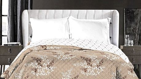 DecoKing Přehoz na postel Calluna hnědá, 220 x 240 cm