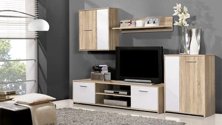 Menší moderní obývací stěna PACO LUX