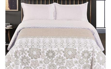 DecoKing Přehoz na postel Alhambra béžová, 220 x 240 cm