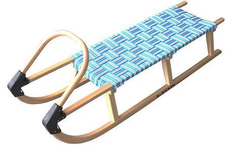 CorbySport 32619 Sáně 125cm dřevěné - modré