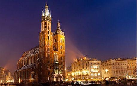 Jedinečné chvíle pro dva s ubytováním ve 3* hotelu v centru Krakova