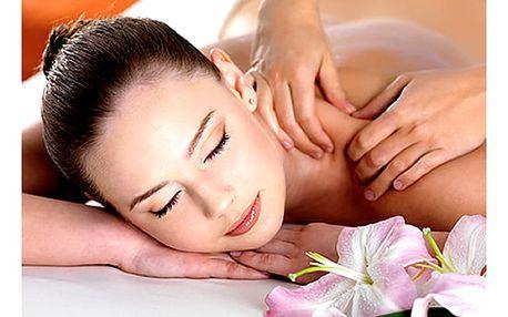 Hodinová relaxační masáž zad a šíje či masáž lávovými kameny nebo permanentka na 5 masáží.