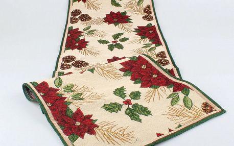 Dakls Běhoun Vánoční hvězda, 33 x 140 cm